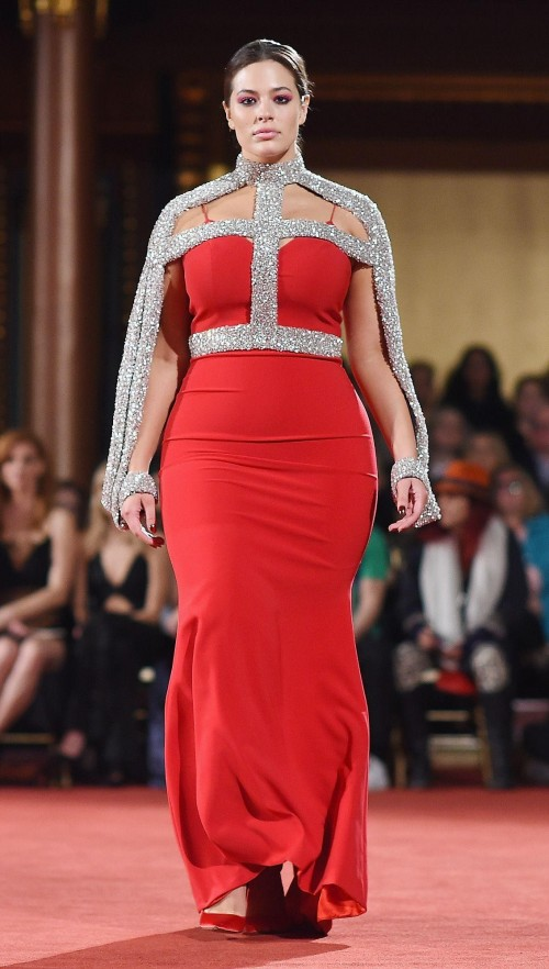 Yay or Nay? Ashley Graham walked the ramp in this red gown at New York Fashion Week 2018 - SeenIt