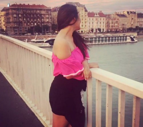 Pink bardot top with white line exactly same - SeenIt