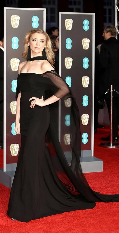 Yay or Nay? Natalia Dormer poses at BAFTA Awards 2018 in this black mermaid gown - SeenIt