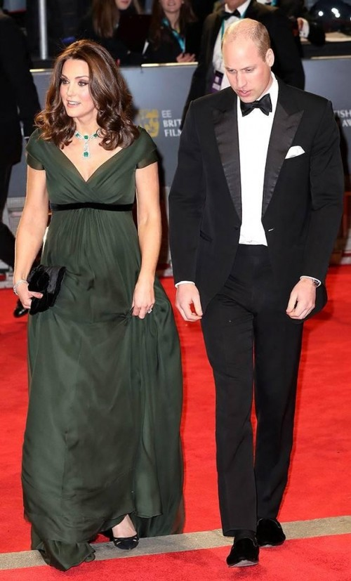 Yay or Nay? Kate Middleton in this olive green gown at BAFTA Awards 2018 - SeenIt