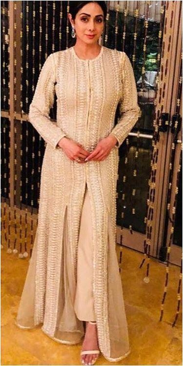 Yay or Nay? Sridevi in this white embroidered slit anarkali - SeenIt