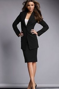 need a similar corporate black pencil skirt coat outfit - SeenIt
