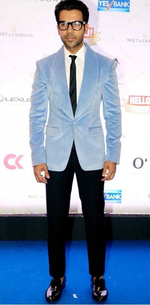 Shop Colours Halloffameawards2018 Rajkumarrao Blazer Outfit Pants On Seenit 51000