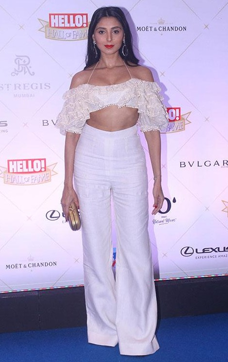 Yay or Nay? Pernia Qureshi in this white ruffles crop top and white pants at Hall of Fame Awards 2018 - SeenIt