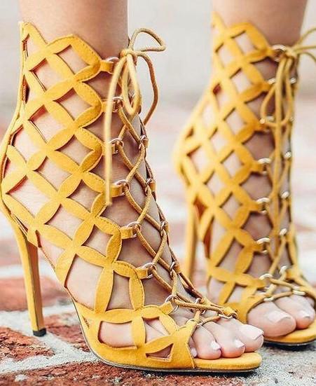 Similar tie up heels - SeenIt