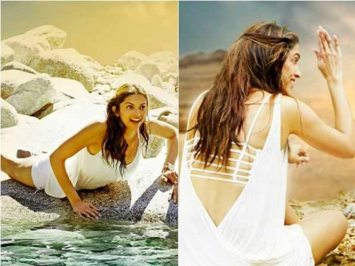 want a similar deep v back style beach dress like deepika is wearing - SeenIt