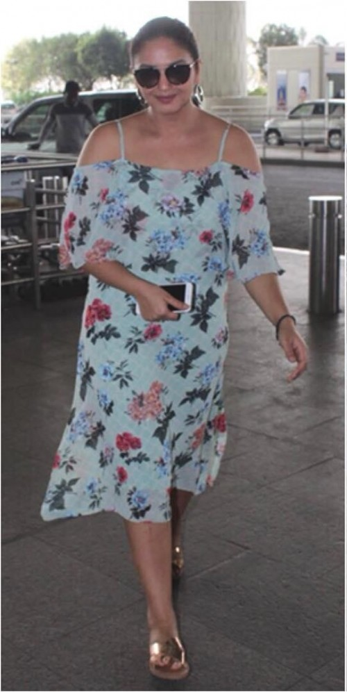 Similar blue floral dress as Huma Qureshi is wearing - SeenIt