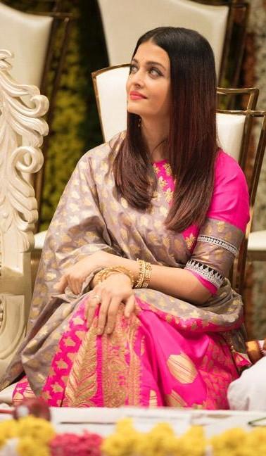 Similar pink lehenga that Aishwarya Rai Bachchan is wearing - SeenIt