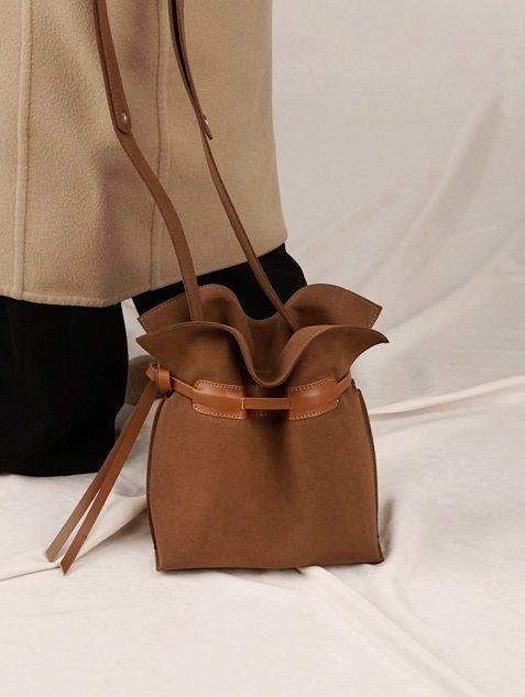 Want this brown bucket bag - SeenIt
