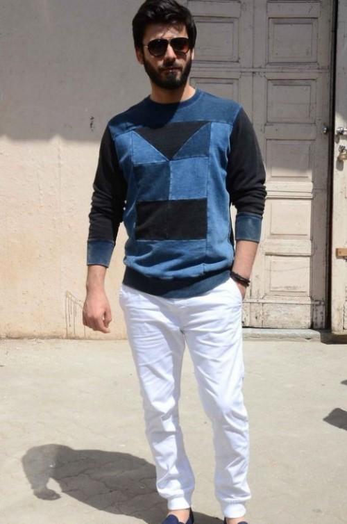 want a similar blue sweater fawad khan is wearing - SeenIt