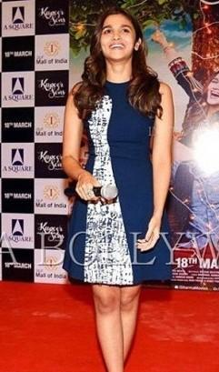 want a similar blue pattern dress worn by alia bhatt - SeenIt