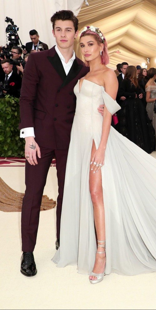 Yay or Nay? Shawn Mendes attends the Met Gala 2018 in this maroon suit - SeenIt