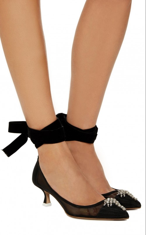 Looking for these black lace-up heels - SeenIt
