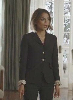 want a similar black two button blazer like cristal is seen wearing in dynasty - SeenIt