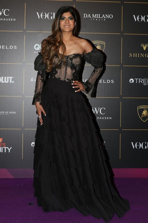 4c3afb1f10 Ananya Birla wearing a black gown by Jonathan Simkhai at the Vogue