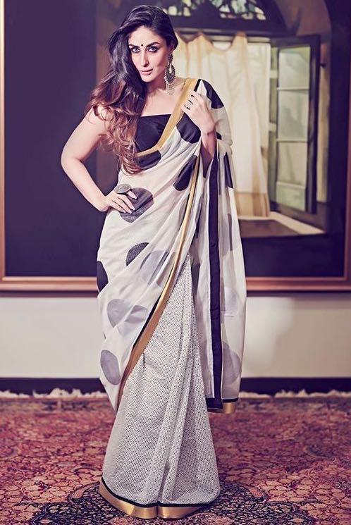 05400d5a5e Kareena Kapoor wearing a masaba saree for Diwali 2018 - SeenIt