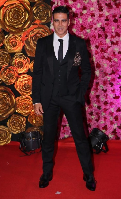 Yay or Nay? Akshay Kumar wearing a black three piece suit at the Lux golden rose awards last night - SeenIt