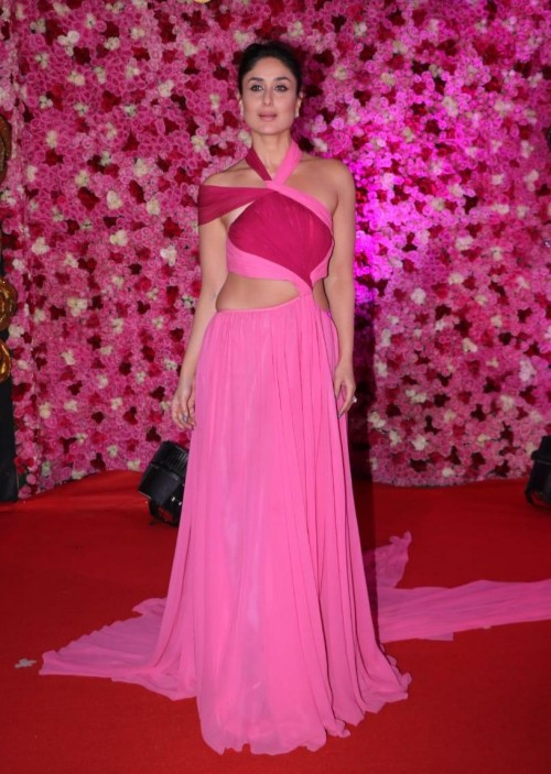 Yay or Nay? Kareena Kapoor Khan wearing a pink cut out gown at the Lux golden rose awards last night - SeenIt
