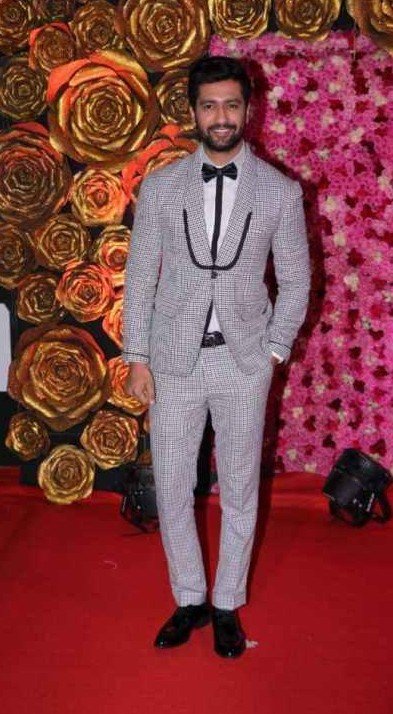 Yay or Nay? Vicky Kaushal wearing a striped tuxedo at the Lux golden rose awards last night - SeenIt
