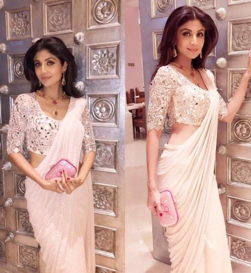 Shilpa Shetty wearing Monisha Jaisingh at the Royal Gala Dinner. Yay or Nay? - SeenIt