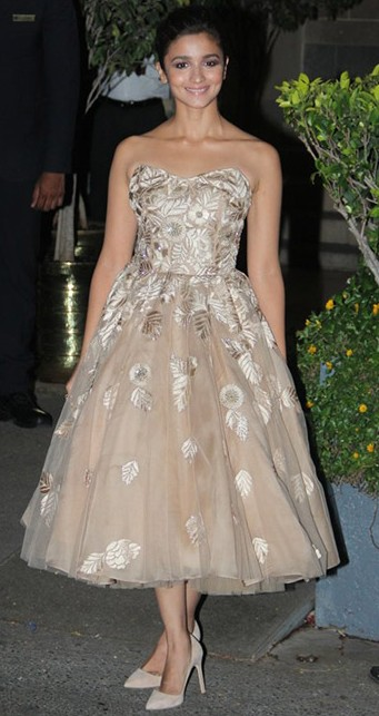 Alia wearing Manish Malhotra at the Royal Gala Dinner. Yay or Nay? - SeenIt