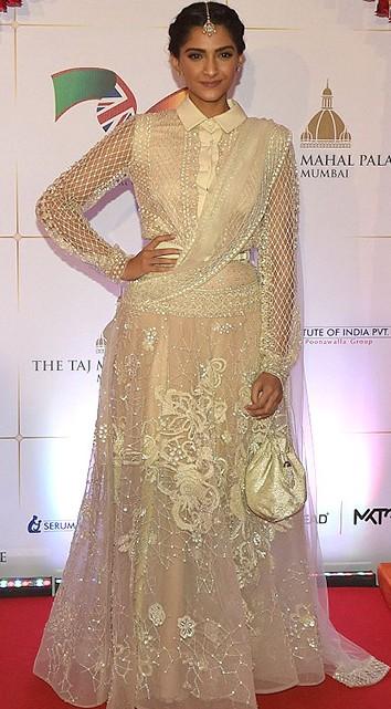 Sonam Kapoor wearing Elie Saab at the Royal Gala Dinner.Yay or Nay? - SeenIt