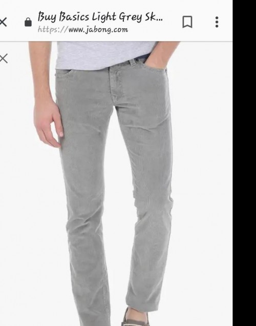 Light grey skinny fit chino - SeenIt