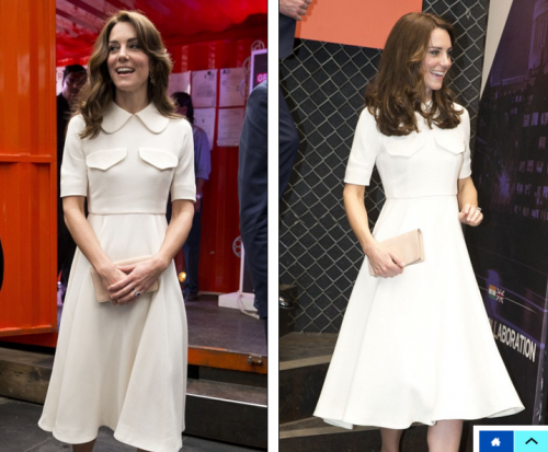 Kate kept it chic in a midi dress by Emilia Wickstead. I say Yay! - SeenIt