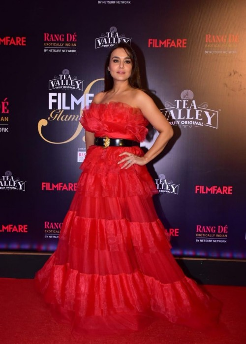 20e8a3eee2 Preity Zinta attends the Filmfare glamour and style awards 2019 last night
