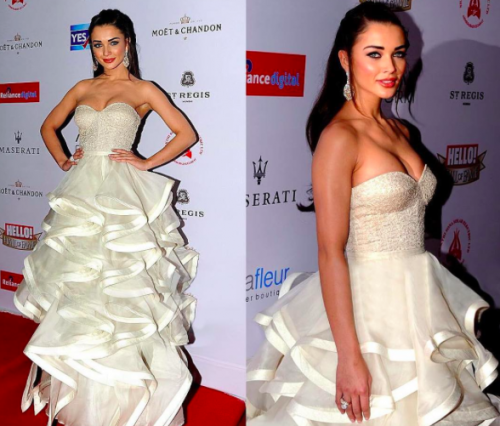 No one couldve looked more elegant than Amy in her Shantanu & Nikhil outfit. - SeenIt