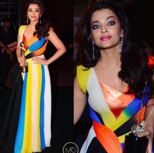 Aishwarya was like a breath of fresh air in the colourful Amit Aggarwal gown. - SeenIt