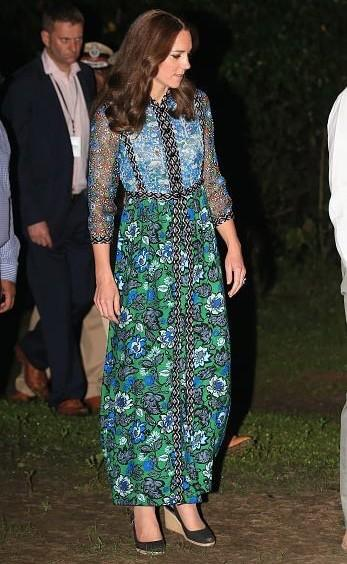 Princess Kate in a lovely summery maxi dress by American Designer Anna Sui. Yay or Nay? - SeenIt