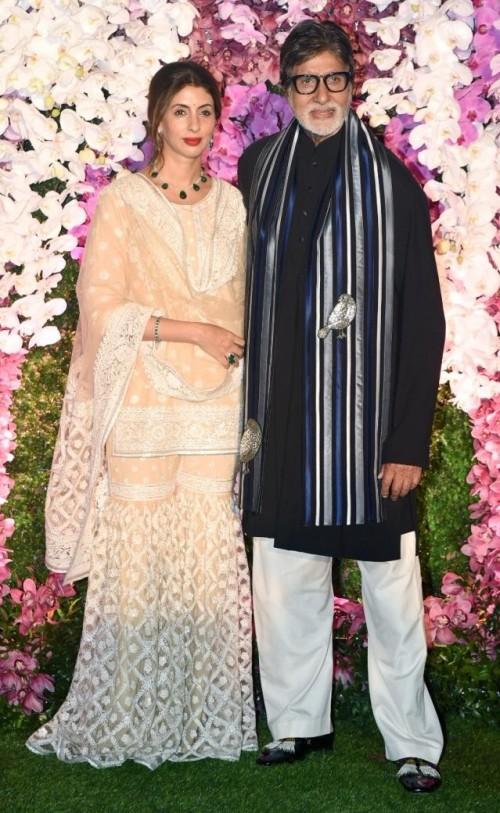 Yay or Nay? Amitabh Bachchan and Shweta Bachchan attend the Akash Ambani wedding in Mumbai - SeenIt
