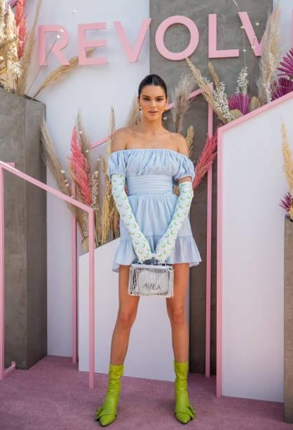 922efbd7af4 Shop coachella2019, colours, kendalljenner, dress, gloves, outfit, shoes on  SeenIt - 62943