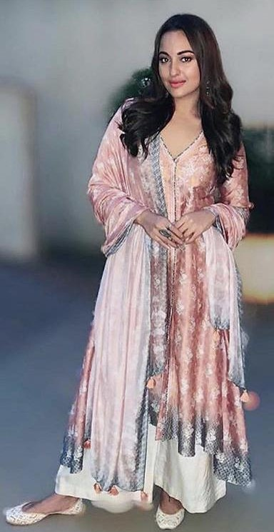Looking for a similar outfit like Sonakshi Sinha is seen wearing at the promotions of Kalank - SeenIt