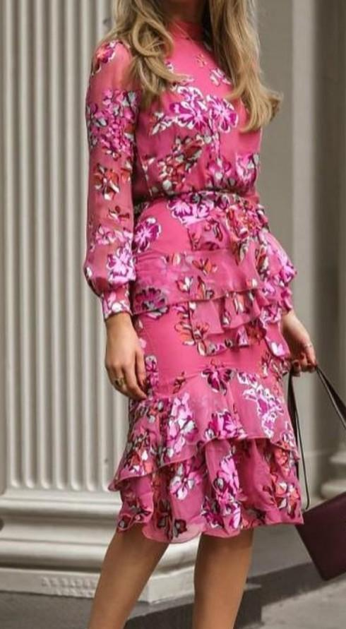 Looking for a similar pink floral dress - SeenIt