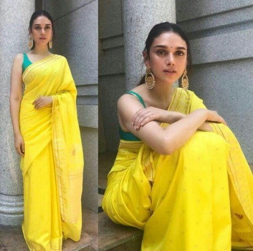 please help me find out this exact same saree which Aditi Rao Hydari is wearing . Nothing extra just the same!!  please please please help ❤ - SeenIt