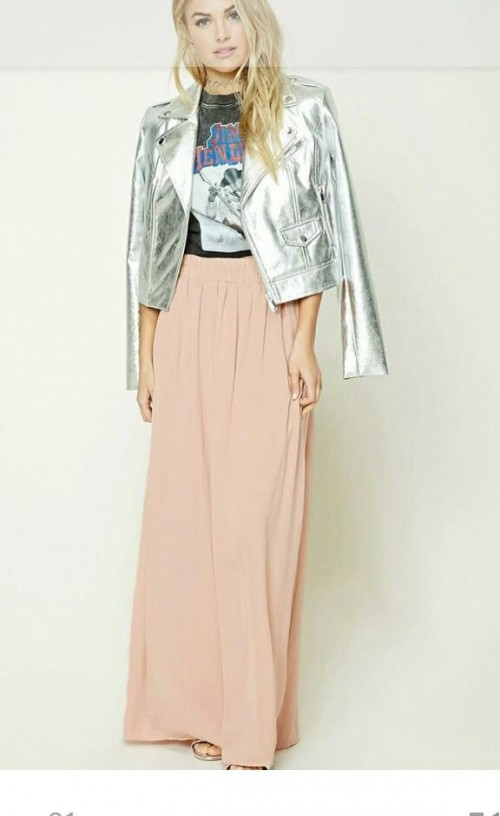 this jacket silver metallic - SeenIt