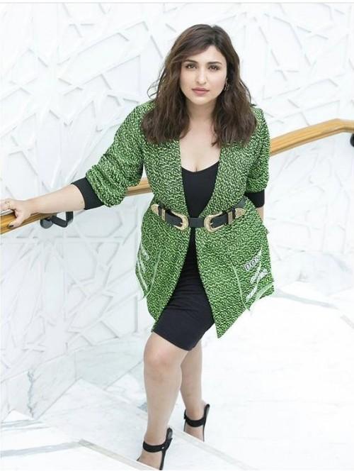 Yay or Nay? Parineeti Chopra wearing a green blazer dress at the promotions of Jabariyajodi - SeenIt