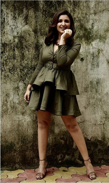 Yay or Nay? Parineeti Chopra wearing a  green dress at the promotions of Jabariyajodi - SeenIt
