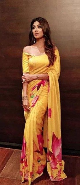 I'm looking for the same printed yellow saree - SeenIt