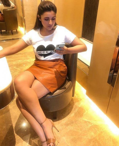 Help me find a similar skirt online Parineeti Chopra is wearing at the promotions of Jabariyajodi - SeenIt