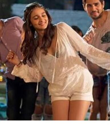 looking for alia's famous white deep neck kurta shirt with white hot pants outfit - SeenIt