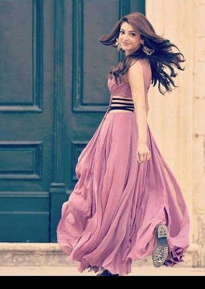 Hi I'm looking for a similar lilac pink dress with black waist straps on either side. Look from You and me song Kajal aggarwal - SeenIt