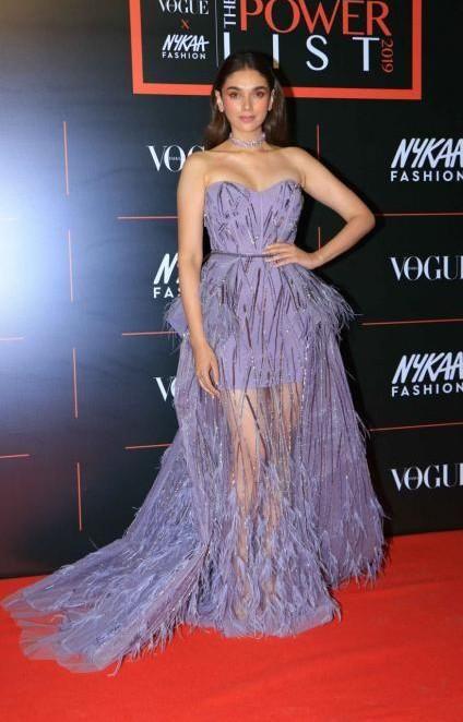 Yay or nay? Aditi Rao Hydari attends the Vogue X Nykaa Fashion Power List 2019 in Mumbai - SeenIt