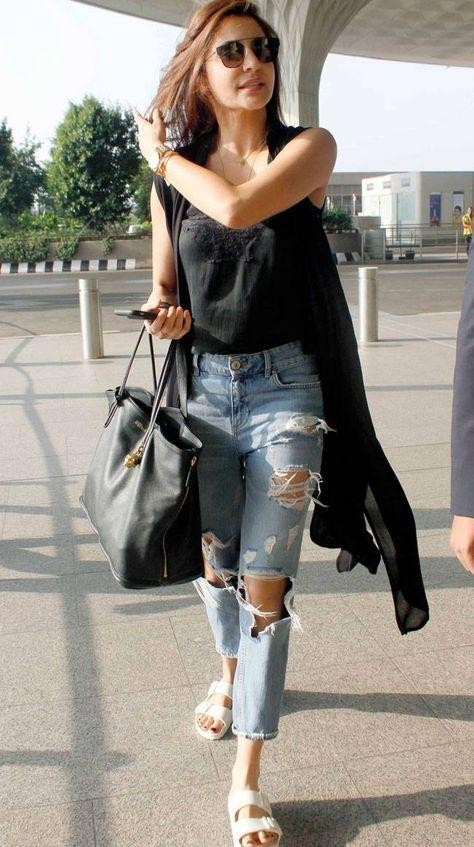 Looking for the ripped denims which Anushka Sharma is wearing - SeenIt