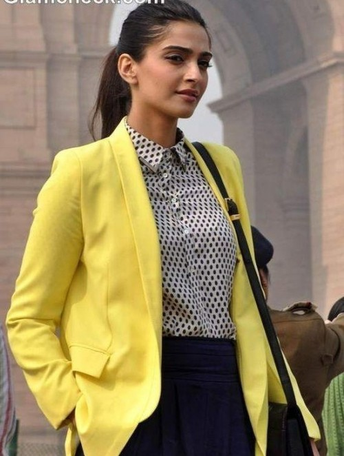 Looking for a yellow blazer like Sonam Kapoor - SeenIt