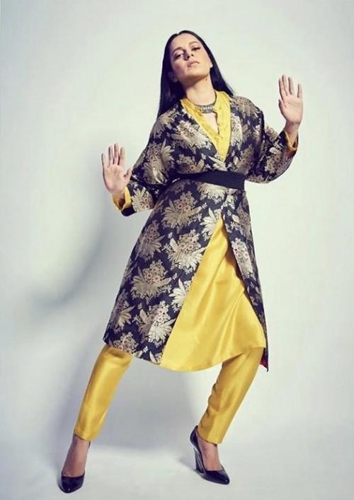 Yay or nay? Kangana Ranaut wearing a Raw mango outfit at the promotions of Panga movie - SeenIt