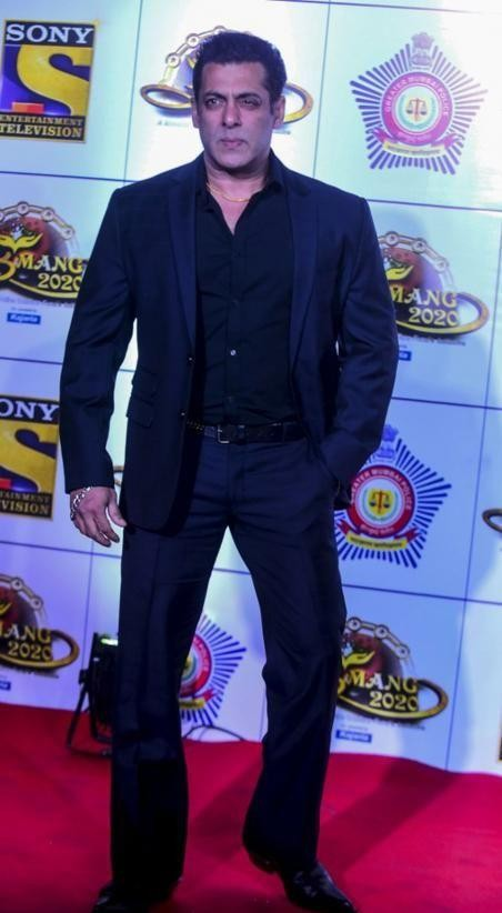 Yay or nay? Salman Khan attends the Umang awards 2020 held in Mumbai last night - SeenIt