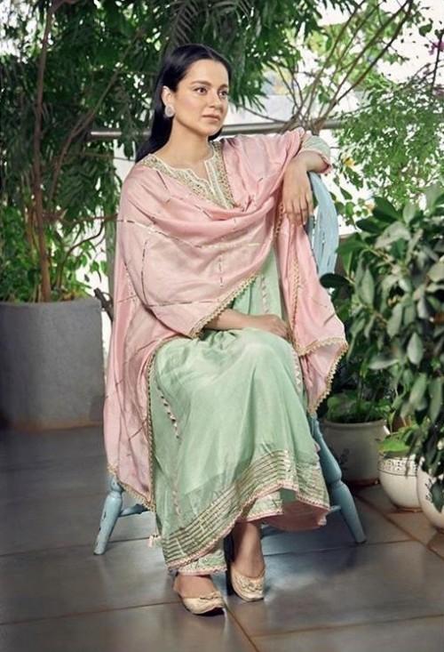 Yay or nay? Kangana Ranaut wearing an Amisha Kothari label outfit at the promotions of Panga - SeenIt